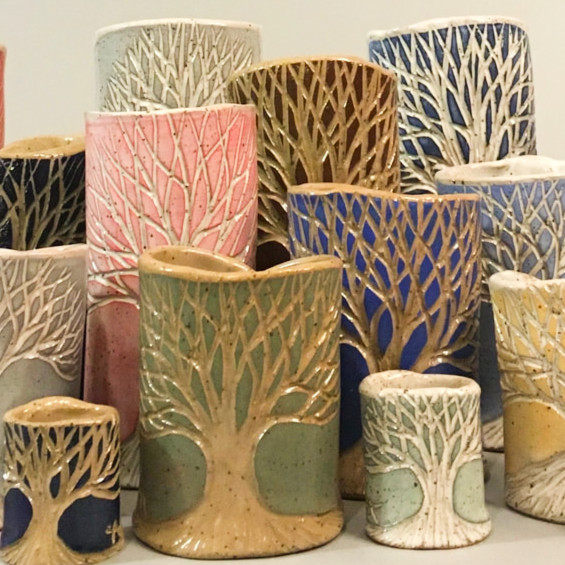 David Voll Pottery Wooden Stone Gallery